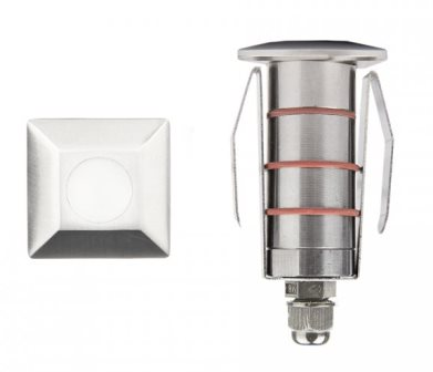 "WAC 1"" Square LED Inground Light - 1051-30SS-0"